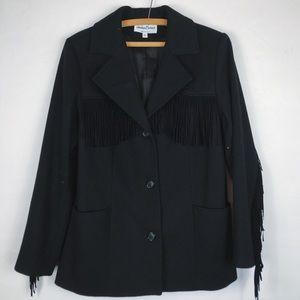 Vintage • Fringe Wool Blazer